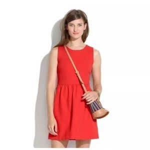 Madewell Red Afternoon Casual Dress